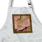 click on Pink and olive metallic leaves with bark brown frame to enlarge!