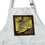 click on Gold and bronze metallic leaves with chocolate frame to enlarge!