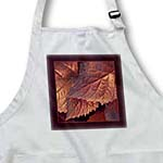 click on Deep harvest orange metallic leaves with dark chocolate frame to enlarge!