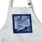 click on Denim blue metallic leaves with navy blue frame to enlarge!