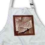 click on Cocoa metallic leaves with milk chocolate frame to enlarge!