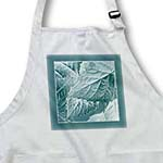 click on Ice and turquoise blue metallic leaves with soft blue frame to enlarge!