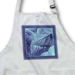 click on Powder and muted blue metallic leaves with rich blue frame to enlarge!