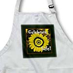 click on Bright gold sunflower celebrate life with black frame to enlarge!
