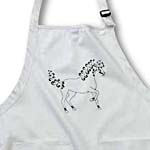 click on Horse Lover Gifts - Tattooed Horse Outline - White and Black to enlarge!