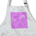 click on Horse Lover Gifts - Tattooed Horse Outline - Purple and White to enlarge!