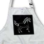 click on Horse Lover Gifts - Tattooed Horse Outline - Black and White to enlarge!