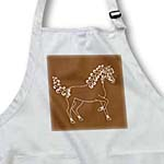 click on Horse Lover Gifts - Tattooed Horse Outline - Brown and White to enlarge!