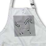 click on Horse Lover Gifts - Tattooed Horse Outline - Grey, Black and White to enlarge!