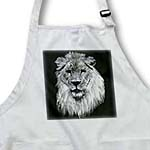 click on African lion. Full head painting in black and white.  to enlarge!