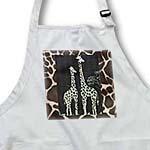 click on Pair of Giraffes On Giraffe Fur to enlarge!