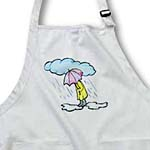 click on Cartoon Man n Umbrella In Rain to enlarge!
