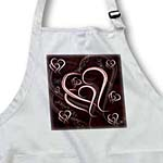 click on Valentine hearts, Entwined white and maroon heart outlines on deep burgundy maroon background to enlarge!