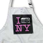 click on I Photographed New York - Pink text and grey camera on black background to enlarge!