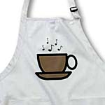 click on Brown Coffee Cup With Music Notes to enlarge!
