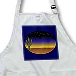 click on Oval Desert Scene On Navy Blue to enlarge!