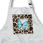 click on Turquoise Butterfly On Giraffe Fur to enlarge!