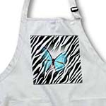 click on Turquoise Butterfly On Zebra  to enlarge!