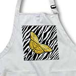 click on Golden Yellow Butterfly On Zebra to enlarge!