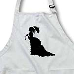 click on Victorian Lady In Black Silhouette Dress and Umbrella to enlarge!