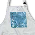 click on Peace Blue Snowflakes- Winter Art- Christmas to enlarge!