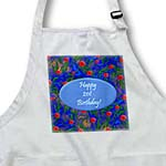click on Wild Dark Blue 21st Birthday Design to enlarge!