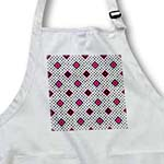 click on Pink - Geometric Print White - Diamonds and Polka Dots to enlarge!