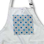 click on Blue - Geometric Print White - Diamonds and Polka Dots to enlarge!