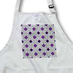 click on Purple - Geometric Print White - Diamonds and Polka Dots to enlarge!