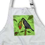click on Colorful Cartoon Toucan looking at a Ladybug in the Rain forest. to enlarge!