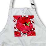click on Hummingbird Red and White Hibiscus Anniversary to enlarge!