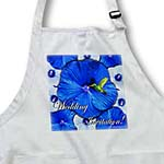click on Hummingbird Blue and White Hibiscus Wedding to enlarge!