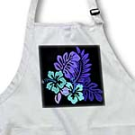 click on Hawaiian Turquoise n Purple Floral On Black to enlarge!