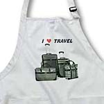 click on Black n White Suitcases With Words I Love Travel to enlarge!