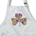 click on Chic multicolor spirals clover to enlarge!