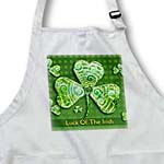 click on Text Luck of The Irish. Chic clovers on green background to enlarge!
