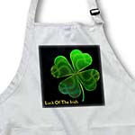 click on Text Luck of The Irish. Chic clovers (green) on black background to enlarge!