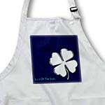 click on Text Luck of The Irish. White chic clover on blue background to enlarge!