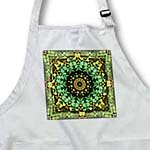 click on Mandala 29 floral flowers green turquoise gold glowing peace meditation to enlarge!