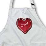click on Large red heart on a white background surrounded by small red hearts and the monogram A to enlarge!