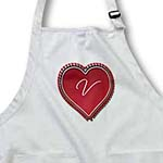 click on Large red heart on a white background surrounded by small red hearts and the monogram V to enlarge!