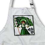 click on Erin Go Braugh, Irish Lady and Flag (Vintage) to enlarge!