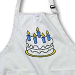 click on White Cake With Blue Candles to enlarge!