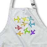 click on Colorful cartoon toy airplanes on a plain background ready for the future pilot. to enlarge!