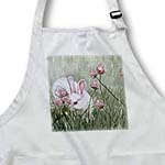 click on Bunny Rabbit in Grass Peeking out Behind Pink Wildflowers to enlarge!