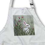click on Side View of Bunny Rabbit in Tall Grass with Pink Wildflowers to enlarge!