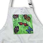 click on Multiple Colorful Butterflies with Green Grassy Background to enlarge!