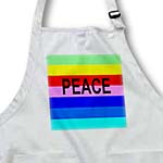 click on Word Peace On Green Yellow Red Pink Blue Aqua Stripes to enlarge!