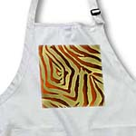 click on Rab Rockabilly Zebra Print Metallic Rust and Gold to enlarge!