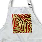 click on Rab Rockabilly Zebra Print Metallic Red and Gold to enlarge!